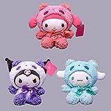 LUOYEPIAO Linda Serie de transformación de Panda Kuromi Melody Yugui Perro Paquete de Peluche de Peluche Juguete Muñeca Muñeca Muñeca/Pareja Regalo 20 cm 3