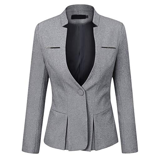 Yynda Slim Fit Blazer Elegant pak jas met een knop kort voor Office Business