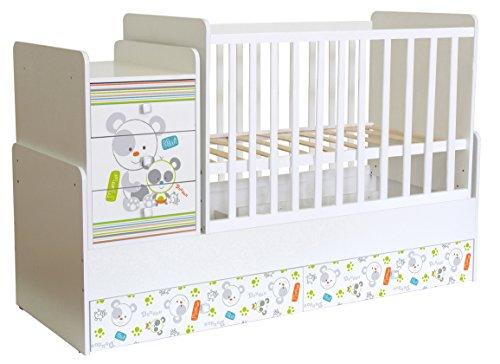 Polini Kids Kombi-Kinderbett Simple mit Motiv Wippfunktion, Schaukelfunktion