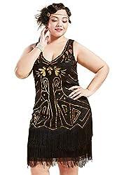 Damen Flapper Kostüm 1920er Jahre Schwarz Charleston Jazz Gatsby Kostüm Outfit