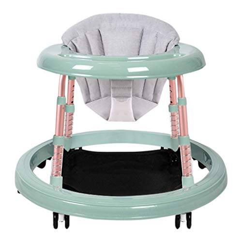 Trotteur bébé HUYP Baby Walker Et Rocker Boys Walker Activité Centre Girl Chair 6-18 Mois De Mode Pliable (Color : Green-D)