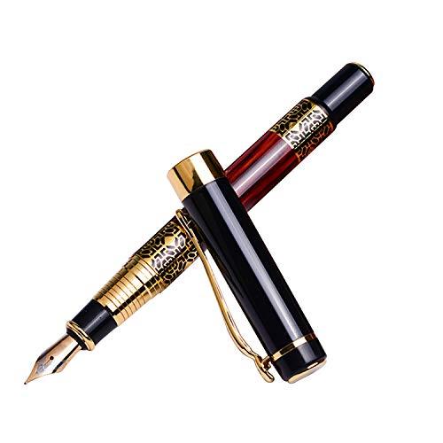 Pluma estilográfica de flujo suave, punta media, pintura de piano, herramienta de escritura clásica para firma de negocios y colección