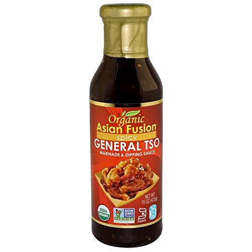 Organic Asian Fusion General Tso Sauce, 15 Ounce - Non-GMO, Organic Certified, Kosher & Gluten Free (1 Pack)