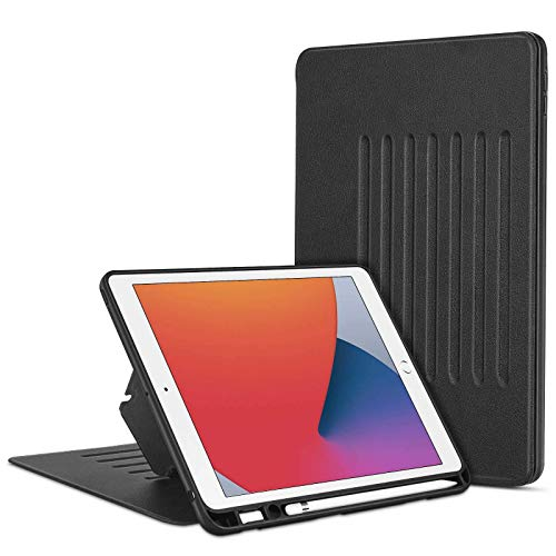 ESR Case for iPad 8th Generation (2020)/iPad 7th Generation (2019),Stand Case for iPad 10.2 [Rugged Protection] [Pencil Holder] [Magnetic Mounting] Sentry Series – Black