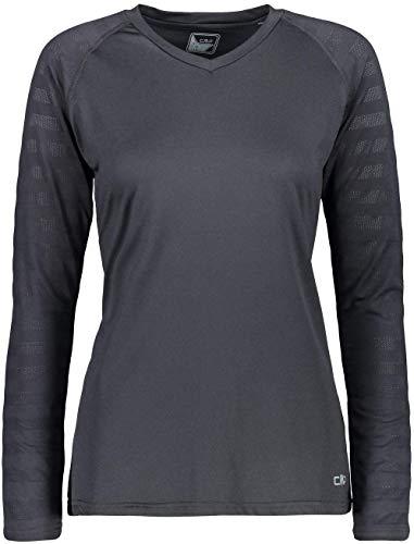 CMP Haut de la Fonction Shirt Fonctionnel Femme T-Shirt Black Respirant - 44