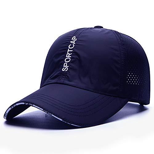 Yifuty Travel Cap Outdoor Leisure Cap Paar Hut Sport-Baseball-Mütze Adjustable Sonnenhut Spitze-Kappen-LKW-Hut Sun Cap Tide Marke Hut (schwarz) (Color : Navy Blue, Größe : L)
