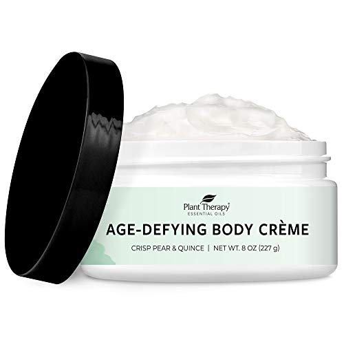 Plant Therapy Crisp Pear & Quince Anti-Age Body Cream with Whipped Shea Butter and Argan Oil 8 oz; 100% Vegan, Hydrating and Skin Firming