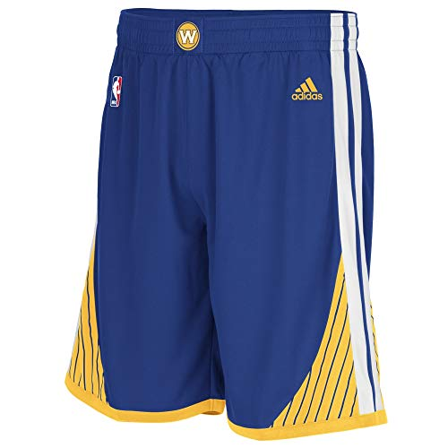 adidas Woven Team, Pantaloncini Sportivi Uomo, Blu (NBA Golden State Warriors 1 310), M