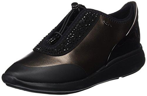 Geox D Ophira E, Zapatillas para Mujer, Marrón (Dk Coffee/Black), 41 EU (7.5 UK)