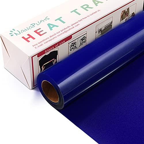 NANAPLUMS Plotterfolie Textil, 30.5cm×4m Transferfolie Plotter Flexfolie für Cricut und Silhouette Cameo, Verwendet in Textilien Transferfolie zum Aufbügeln für DIY T-Shirt, Stoffe(Saphir blau)
