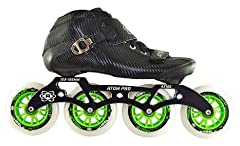 "Atom Pro Boot, Atom Pro 4x100 12.8"" Frame, Atom Matrix Green 100mm Wheel, Bionic Abec 7 Bearing"