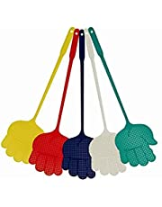 5pcs Home Kitchen Accessory Hand Palm vormige plastic vliegenmepper Plastic Flyswatter kleur willekeurig