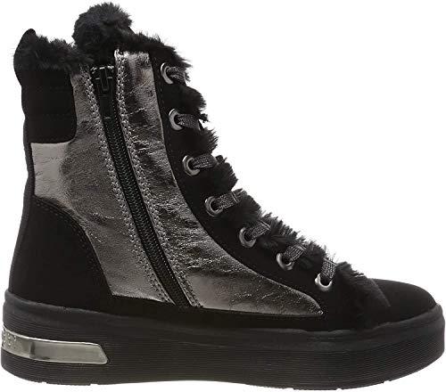 bugatti Damen 431771315569 Hohe Sneaker, Schwarz (Black/Metallic 1090), 38 EU