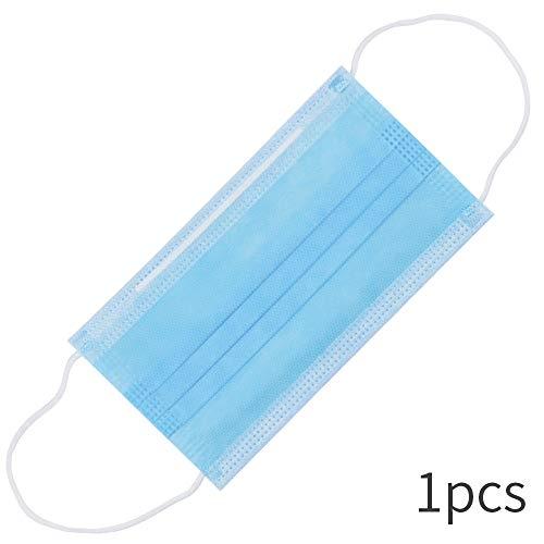 VEVICE Mascarillas de higiene desechables, mascarilla sellada con aretes elásticos, mascarilla de higiene quirúrgica de 3 capas, transpirable contra el polvo para el hospital al aire libre - 1 Pcs