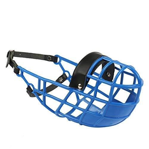 Amordazar Don Pare Modelo 101 en azul siempre es posible beber, ideal para funcionamiento libre, perrera, jaula, carreras de perros, coche, protección del cebo venenoso por Amathings