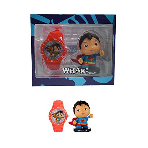 Figurines Little Mates 'DC Comics' - Coffret Montre Enfant & Fig Superman - rouge