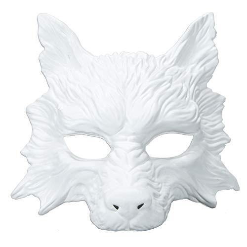 White Wolf Mask Animal Masquerade Masks Halloween Costume Cosplay Party Mask