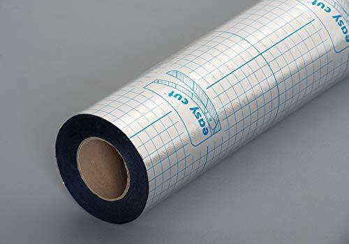 EGGER Dampfbremse Aqua+ Aluflex für Laminat - Diffusionsschutz gegen Feuchtigkeit - Aluminiumfolie mit robuster Vliesbeschichtung, 26m²/ Rolle