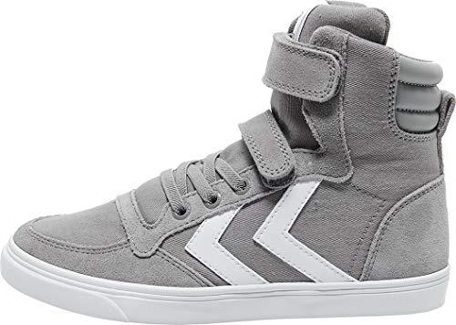 hummel Unisex Kinder Slimmer Stadil HIGH JR Hohe Sneaker, Frost Grey, 28 EU
