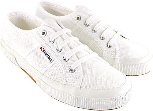 Superga Womens Classic Cotu Canvas Retro Plimsoll Low Top Sneakers - White - 9