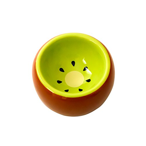 OMEM Hamster Bowl Ceramic Prevent Tipping Moving and Chewing Wonderful Food Dish for Small Rodents Gerbil Hamsters Mice Guinea Pig Cavy Hedgehog and Other Small...