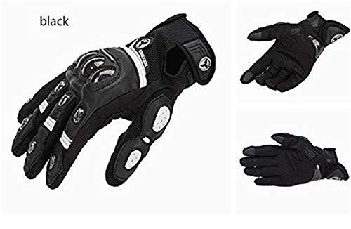 Rennsport Handschuhe Männer Kohlefaser Reithandschuhe Rutsch Jungen Sommer Anti Cross Country Racing Handschuhe (Color : Schwarz, Size : XL)