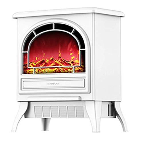 Calefactor 16 pulgadas Altura del marco chimenea eléctrica de mesa Ajustes Calefacción auxiliar 2 Calor 1800 W metal Calentador de espacios Calentador de espacios 3D Llama & Quiet Fan - Negro fuego Wh
