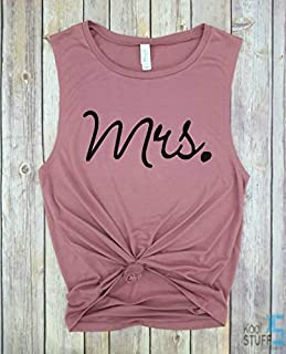 Mrs. Tank, Future Mrs, I Said Yes, Engagement Tank, Engagement Gift, Fiance Shirt, Bachelorette Party Shirt, Future Mrs, Bride Tshirt, Wifey Tank, Just Married Shirts, Gift for Wife