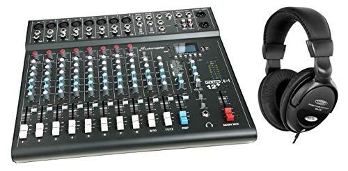 Studiomaster Club XS 12+ Mischpult Set inkl. Kopfhörer