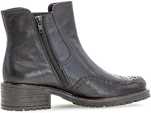 Gabor Damen Chelsea Boots 36.091, Frauen Stiefelette,Stiefel,Halbstiefel,Bootie,Schlupfstiefel,hoch,schwarz (Mel.),39 EU / 6 UK