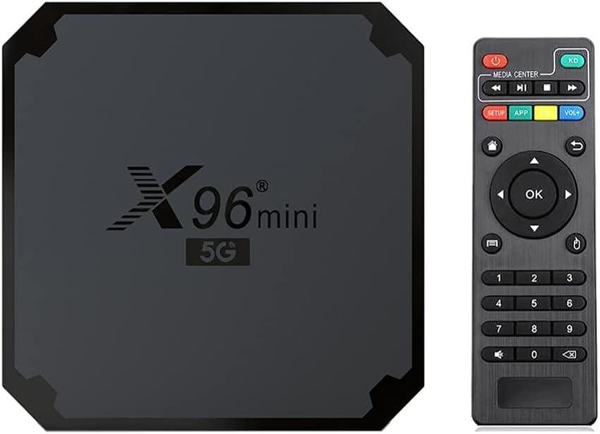 TENKY X96 Mini Caja de TV Android 9.0, 5G + 2.4G Caja IPTV de Doble frecuencia de Doble frecuencia, AMLOGIC S905W4 Smart IP TV Caja Superior