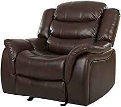 Christopher Knight Home Merit Faux Leather Glider Recliner Club Chair, Dark Brown