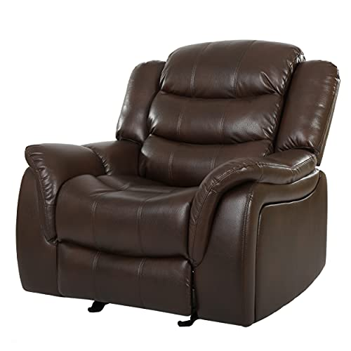 Christopher Knight Home Merit Faux Leather Glider Recliner Club Chair