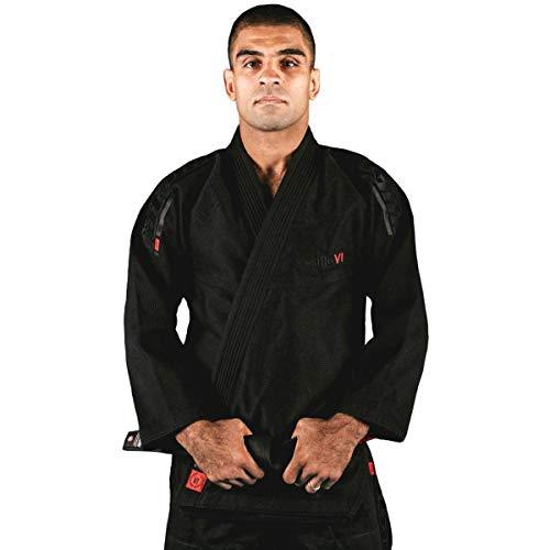 Tatami Fightwear - Estilo 6.0 BJJ - Kimono para Hombre, Hombre, BJJ GI, Negro y Negro, A1