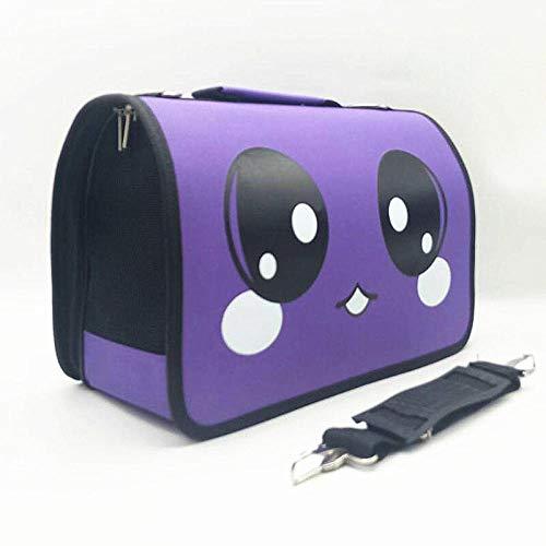 Schoudertas, schoudertas, schoudertas, reistas voor honden, L, Purple big eyes