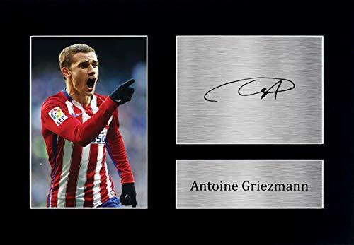 HWC Trading Antoine Griezmann A4 Ungerahmt Signiert Gedruckt Autogramme Bild Druck-Fotoanzeige Geschenk Für Atletico Madrid Fußball Fans