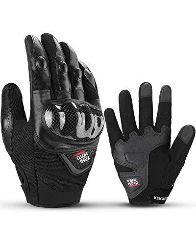 Guantes de moto, con pantalla táctil, guantes de verano para hombre y mujer Hard Knuckle, protección transpirable para moto y scooter