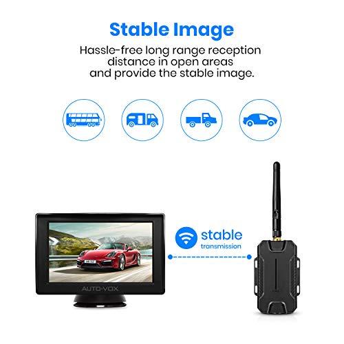 AUTO-VOX M1W Caméra de Recul Sans Fil - Caméra de Recul Étanche IP 68 avec 6 LEDS, Super Vision Nocturne