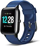 Rastreadores de fitness con GPS, reloj de pulsera inteligente con monitor de ritmo cardíaco, calorías de paso, control de música, IP68 resistente al agua, pantalla táctil a color de 1,3 pulgadas