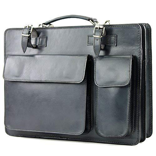 modamoda de Borsa portadocumenti in vera pelle italiana, business, NL01, Colore:marrone