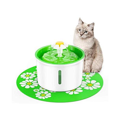 HYISHION Fuente del Animal doméstico, Gato 1.6L Automático Perro Fuente de Agua Dispensador de Agua for Gatos, Perros, Animales domésticos múltiples SKYJIE