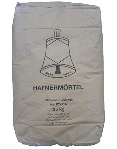 Hafnermörtel B 25 kg Schamottemörtel Ofenlehm Glocke Lehmmörtel