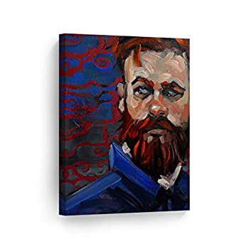 Smile Art Design Ginger Bearded Bear by Kenney Mencher Redhead Man Portrait Oil Painting Canvas Print Living Room Decor Wall Art Bedroom Home Decor Artwork Ready to Hang Made in USA - 17x11