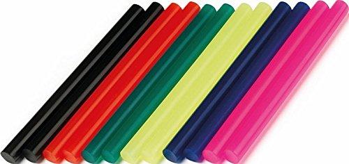 Dremel GG05 kleefstiften accessoireset (met 12 lijmstiften Ø7 mm voor lijmpistolen gekleurd voor het lijmen, versieren en decoreren van glas, kunststof, papier enz.).