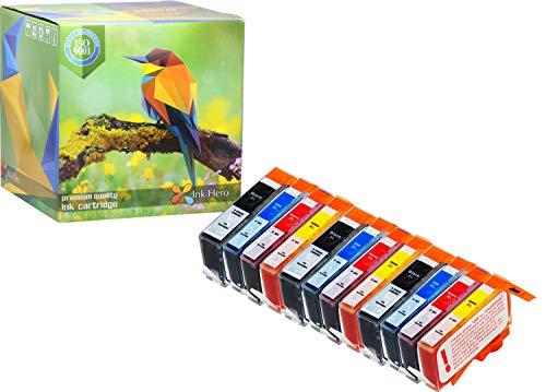 Cartuccia d'inchiostro Ink Hero compatibile in sostituzione dir (Nero, Ciano, Magenta, Giallo, confezione da 12)