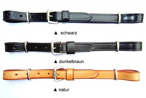 PS Pferdeartikel Kinnriemen oder Nasenriemen Universal und Größenverstellbar Farbe schwarz