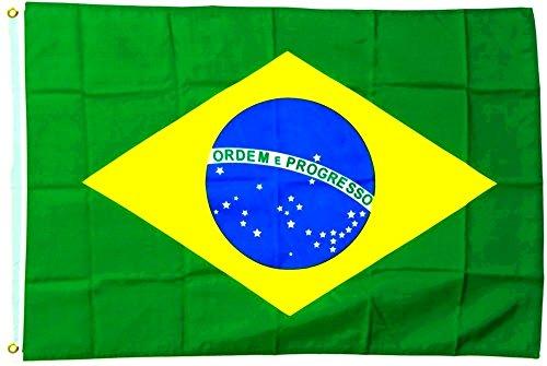 Grand drapeau du brésil 150 x 250 cm