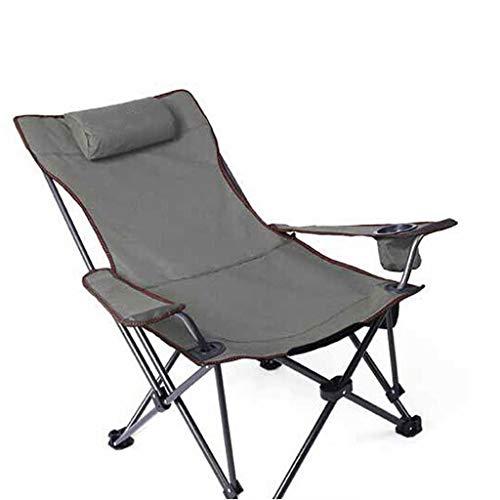 Draagbare campingstoel Beste gewatteerde klapstoel Camping fauteuil Camping lounge stoel, kampeerstoel met voetsteun, lichtgewicht vouwen draagbare stoel voor buiten camping, BBQ Lichtgewicht buitenst