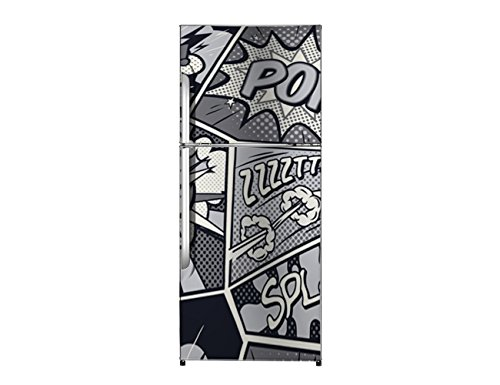 Vinilo Frigorífico Comic 185x60cm | Varias Medidas | Pegatinas de Nevera Económicas y Elegantes | Vinilo Nevera