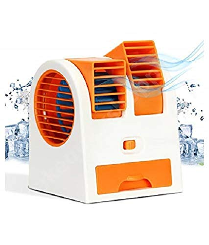 HONEY RETAILS HNYR Portable Small Plastic Air Conditioner Water Cooler Mini Fan Use in Car/Home/Office and Other (Multicolour)